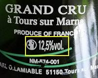 シャンパンのアルコール度数