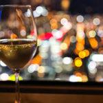 夜景とワイン