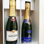 """【シャンパン&ギフト購入レポ】""""テタンジェ""""、""""ポメリー""""、ハーフ(375ml)2本のセットギフト!"""