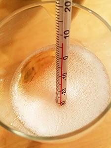 シャンパンと温度